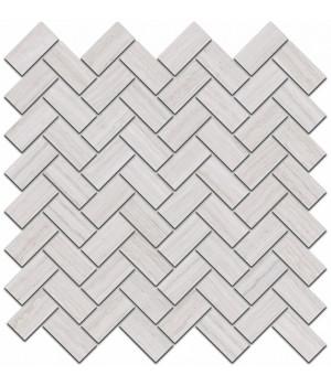 Декор Грасси серый светлый мозаичный