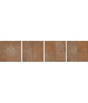 Каменный остров коричневый декорированный
