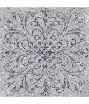 Терраццо серый декорированный обрезной