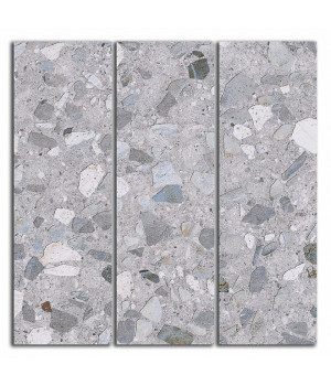 Декор Терраццо серый мозаичный