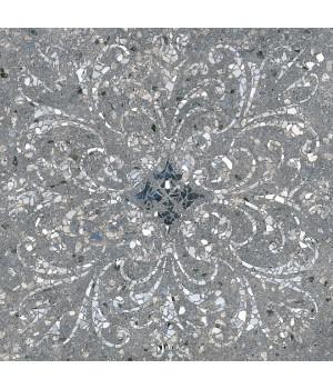 Терраццо серый тёмный декорированный обрезной