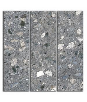 Декор Терраццо серый темный мозаичный