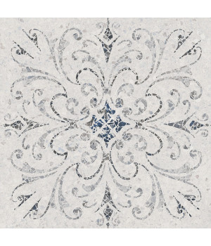 Терраццо серый светлый декорированный обрезной