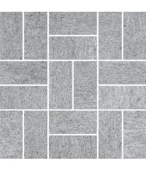 Декор Ньюкасл серый мозаичный