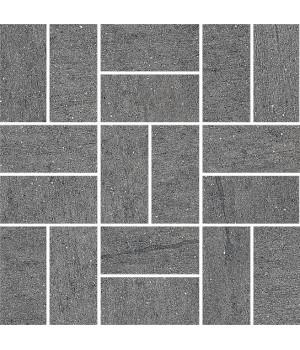 Декор Ньюкасл серый темный мозаичный