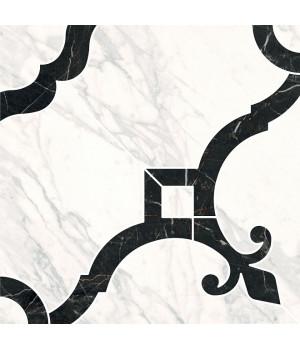 Декор Фрагонар наборный белый 1/4 розона