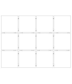 Конфетти белый, полотно 30х40 из 12 частей 9,9х9,9