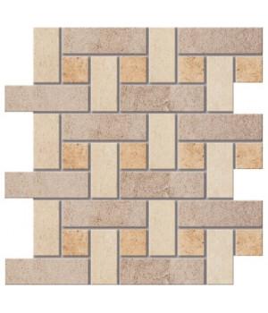 Керамический декор Mosaico BORROMINI светло-коричневый напольный