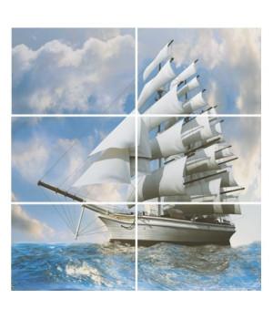 Керамическое панно Бригантина Корабль