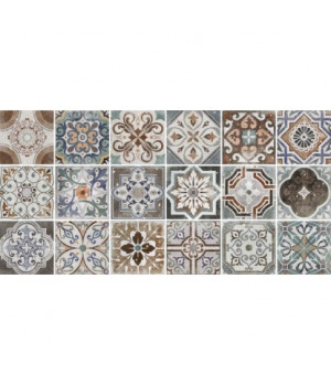 Керамическая плитка Emilia multi wall 01 глянцевая (рандомно 18 шт)
