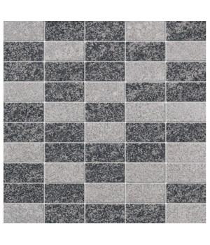 Керамический декор Mosaico серо-черный