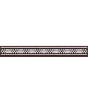 Керамический бордюр Эрмида 56-03-15-1020-2 коричневый