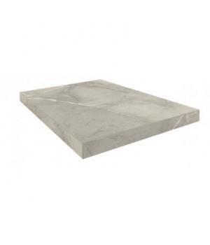 Керамическая ступень Капри серый угловая правая