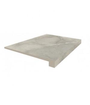 Керамическая ступень Капри серый фронтальная