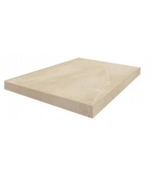 Керамическая ступень Капри белый угловая левая