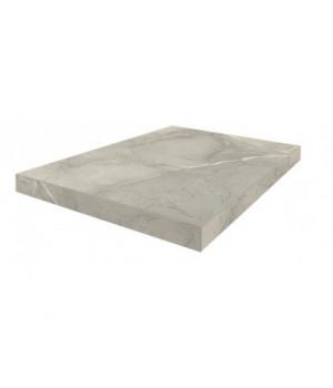 Керамическая ступень Капри серый угловая левая