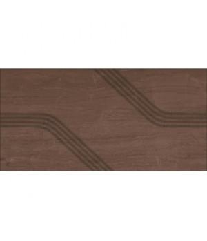 Керамическая плитка Капучино коричневый рельеф