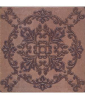 Декор Честер коричневый темный