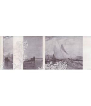 Декор Ньюпорт Корабли фиолетовый