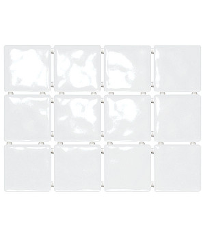 Бриз белый, полотно 30х40 из 12 частей 9,9х9,9