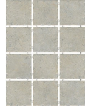 Каламкари серый, полотно 30х40 из 12 частей 9,9х9,9