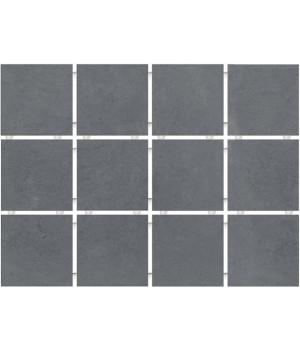 Амальфи серый темный, полотно 30х40 из 12 частей 9,9х9,9