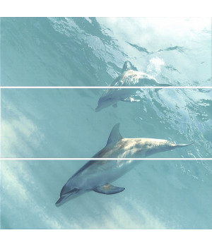 Панно Искья Дельфины обрезной