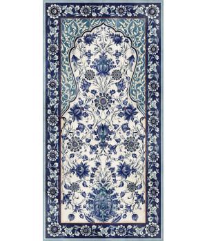 Декор Орнамент синий обрезной