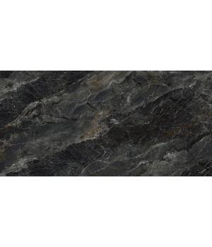 Риальто серый тёмный декор правый лаппатированный