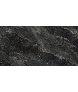 Риальто серый тёмный декор левый лаппатированный