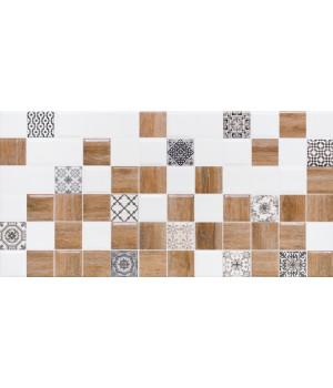 Настенная плитка декор 2 Астрид 1041-0239 20х40 белая