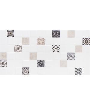 Настенная плитка декор 1 Астрид 1041-0235 20х40 кофейная