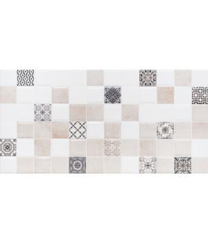 Настенная плитка декор 2 Астрид 1041-0236 20х40 кофейная