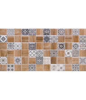 Настенная плитка декор 3 Астрид 1041-0242 20х40 белая