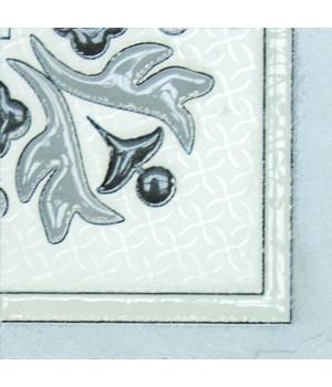 Угловой элемент напольный Бьянка Каррара 3610-0004 10х10 белый