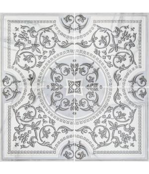 Панно Бьянка Каррара 3609-0006 90х90 (комплект из 4 шт) белое