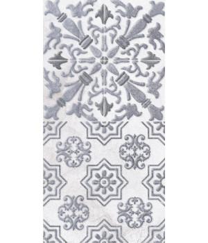 Настенная плитка декор1 Кампанилья 1641-0091 20x40 серый