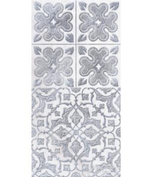 Настенная плитка декор2 Кампанилья 1641-0094 20x40 серый