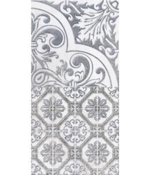 Настенная плитка декор3 Кампанилья 1641-0095 20x40 серый