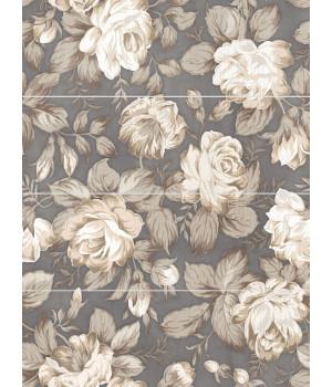 Панно настенное Фиори Гриджо 1608-0116 60х80 цветы (комплект из 4 шт)