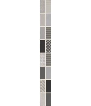 Бордюр настенный Фиори Гриджо 1506-0101 6,5х60 металлизированный