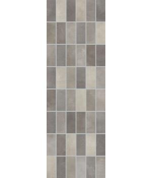 Настенная плитка панно мозаика Фиори Гриджо 1064-0103 20х60 тёмно-серая