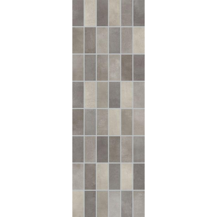 1064-0103 | Настенная плитка панно мозаика Фиори Гриджо 1064-0103 20х60 тёмно-серая Lasselsberger Ceramics