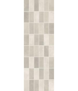 Настенная плитка панно мозаика Фиори Гриджо 1064-0102 20х60 светло-серая
