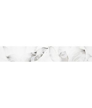 Бордюр настенный Каррарский Мрамор 1504-0145 7,5х45 цветы