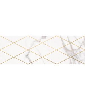 Настенная плитка декор Миланезе Дизайн 1664-0141 20х60 римский каррара