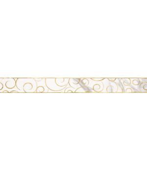 Бордюр настенный Миланезе Дизайн 1506-0154 6х60 флорал каррара
