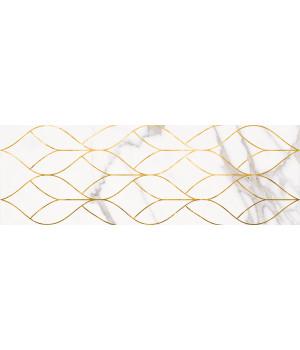 Настенная плитка декор Миланезе Дизайн 1664-0156 20х60 тресс каррара