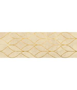 Настенная плитка декор Миланезе Дизайн 1664-0157 20х60 тресс крема