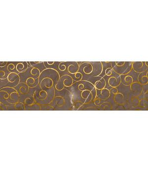 Настенная плитка декор Миланезе Дизайн 1664-0146 20х60 флорал марроне